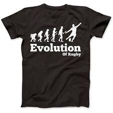EVOLUZIONE GIOCATORE RUGBY SEI NAZIONI 6 T-shirt 100% Cotone Premium Regalo
