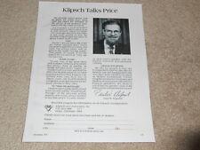 Klipsch Klipschorn Ad, Paul in Ad, Articles, Info, 1974, 1 pg