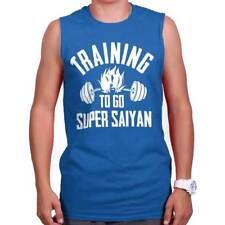 Train Super Saiyan Gym Muscle Tank | Goku Dragon Ball Z Workout Sleeveless Tee