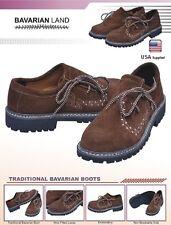 German Bavarian Oktoberfest Trachten Lederhosen Real Leather Embroidered Shoes