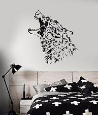 Vinyl Wall Decal Predator Wolf Fangs Aggressive Animal Stickers (960ig)