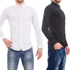Camicia uomo casual basic maglia slim maniche lunghe classica nuova AK-8717