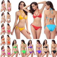 Super Sexy Swimwear Set Hot Push-up Bikini Halter Padded Swimsuit-2 Wear Methods