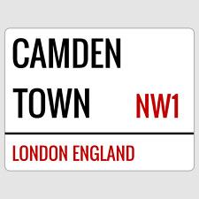 Camden Town London Street Sign Plaque Aluminium