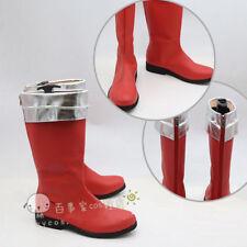 New Kaizoku Sentai Gokaiger Gokai Red Cosplay Costume Boot Shoes