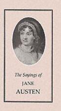 The Sayings of Jane Austen (Duckworth Sayings Series) by Austen, Jane Paperback