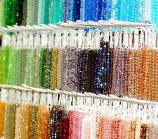 Czech Glas Perlen facettiert Mix 10 Stränge Farb- und Größenauswahl *BACATUS*