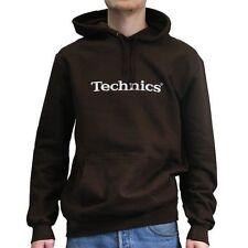 DMC Technics Hoodie (Brown) Festival Clubbing DJ Street Wear (Small - XXL)