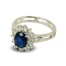 Womens Engagement Ring Simulated Diamond, Amethyst, Sapphire