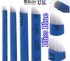 Microblading BLISS Blue Needles SPMU Eyebrow Tattoo Micro blade CF / U Type