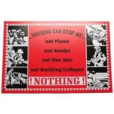 """""""Nothing can stop me (moi)"""",Plaque avec Ventouses,Sapeurs-pompiers,Feu"""
