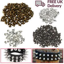 100pcs Punk Spike Cone Rivets Studs Spots for DIY Leathercraft Bracelets Clothes