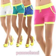 NUOVA linea donna tinta unita cotone estate Attivo Palestra Casual Ciclismo Pantaloncini Collant Hot Pants