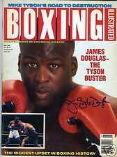 JAMES BUSTER DOUGLAS SIGNED 1990 BOXING ILLUS MAGAZINE