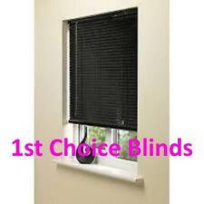 Made to Measure Aluminium Venetian Window Blind 25mm Black metal venetian slats