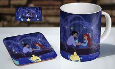 Little Mermaid Kiss Scene Tea / Coffee Mug Coaster Gift Set