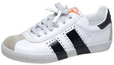F/S 18 Momino 3446V coole Leder Sneakers Schuhe Unisex weiß schwarz 32-40 Neu