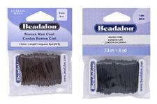 Beadalon® Waxed Cord Braided Dacron® Fiber 7m/8yd * Choose Color