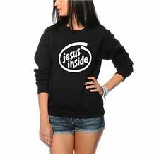Jesus Inside Funny Geek Internet IT Intel Unisex Jumper Black & Grey Sweatshirt