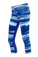Under Armour Women's UA Perfect Sport Tight Printed Capri; Blue; SIZE X-Large