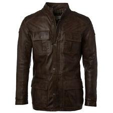 Mens Ashwood Three Quarter Length Soft Leather Biker Jacket - 2238 Dark Brown