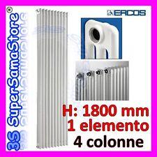 3S CALORIFERO TERMO TUBOLARE ACCIAIO 4 COLONNE H 1800mm