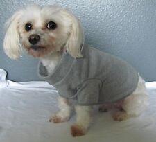 Gray Knit Shirt Dog Puppy Teacup Pet T-Shirt Clothes XXXS - Large