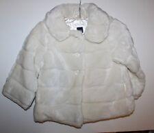 baby Gap NWT Girl's 2T 3T 4T Faux Fur Ivory Coat - Machine Washable