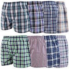Woven Mens Cotton Shorts Boxer Underwear 6 12 Pack 3 S Check Rich Trunks Boxers