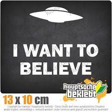 KIWISTAR I want to believe UFO csf0967 13 x 10 cm Aufkleber