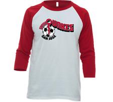 San Jose Earthquakes NASL Soccer 3/4 Sleeve Raglan Tee Shirt with Team Logo