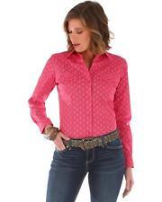 WRANGLER Women's Pink Tonal Long Sleeve Button Down Western Shirts LW3032K NWT
