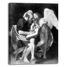Caravaggio san Matteo e l'angelo quadro stampa tela dipinto telaio arredo casa