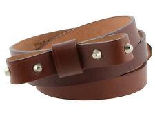 Cintura con fiocco e borchie da donna in cuoio marrone da 2cm made in Italy