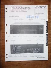 Service Manual Kenwood KR-A4050/A5050 Receiver,ORIGINAL