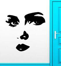 Wall Sticker Vinyl Decal Sexy Girl Face Eyes Modern Room Decor (ig1801)