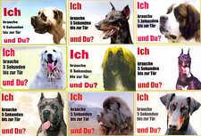 Hunde Warnschild große Hunde 21x15 cm laminiert wetterfest wasserfest für Hoftür