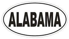 Alabama Oval Bumper Sticker or Helmet Sticker D2317 State Euro Oval