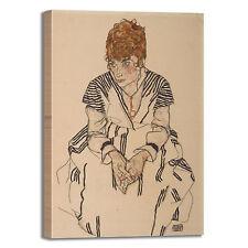 Schiele ritratto sorella design quadro stampa tela dipinto telaio arredo casa