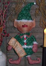 "Primitive Santa""s List Elf Door Doll Paper Pattern #240"