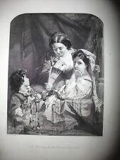 CARNAVAL ROMANO,gravure original moitié XIX siècle