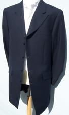 £10 MENS NAVY BLUE LONGER LENGTH PRINCE EDWARD WEDDING DRESS DRAPE LONG JACKET