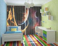 Fantastic Space Landscape 3D Curtain Blockout Photo Print Curtains Drape Fabric