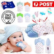 Silicone Baby Teether Teething Mitt Mitten Glove Safe BPA Free Chew Dummy Toy OZ