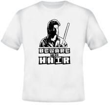Joe Dirt Funny Beware Hair Mullett RETRO White T Shirt