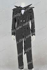 The Nightmare Before Christmas Cosplay Costume Jack Skellington Stripe Suit Cool