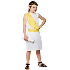 Childrens Boys Greek Boy Costume for Ancient Greecian Roman Latin Fancy Dress