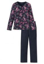 Schiesser Kinder Mädchen Pyjama Schlafanzug  Flowers 140 - 176  *158910* NEU