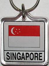 Republic of Singapore Flag Key Chain NEW