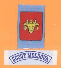 SCOUTS OF MOLDOVA - Scout Membership Rank Award & Strip Patch SET
